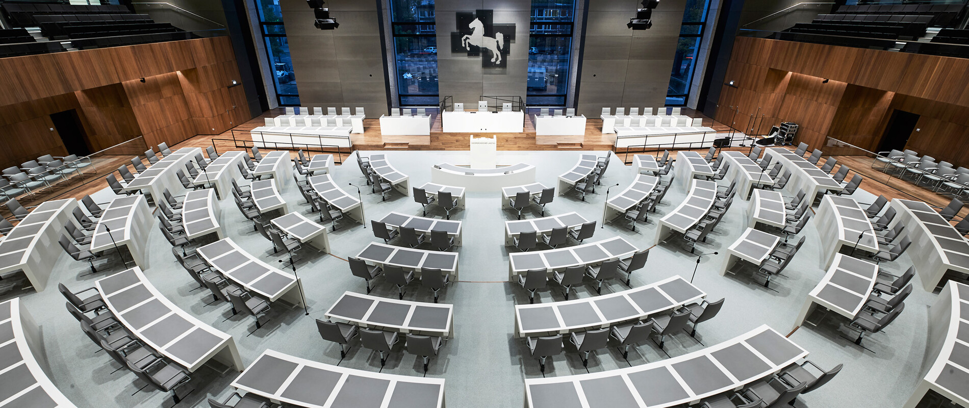 Branding - Lower Saxony's State Parliament in Hannover - auditorium overview