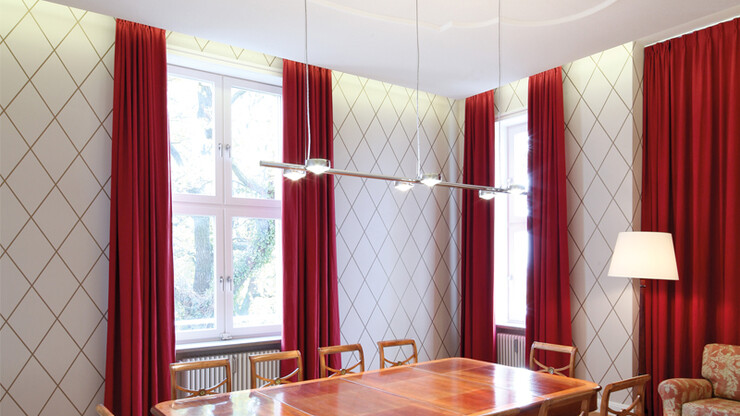 Interior design concept for the private bank 'Bankhaus Metzler Stuttgart' meeting table