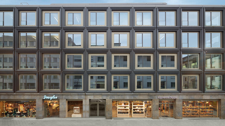 commercial- and office-building - new construction - P5 Mannheim offices - street view