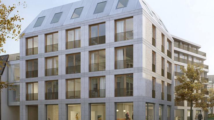 Mixed-use building - competition - Half Long Charles Ludwigsburg - rendering street view