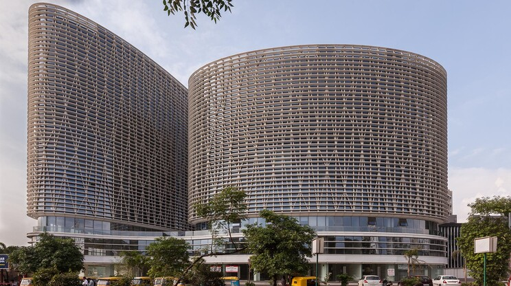 mixed-used building complex - urban and architectural conception - Mondeal Square Ahmedabad - two buildings