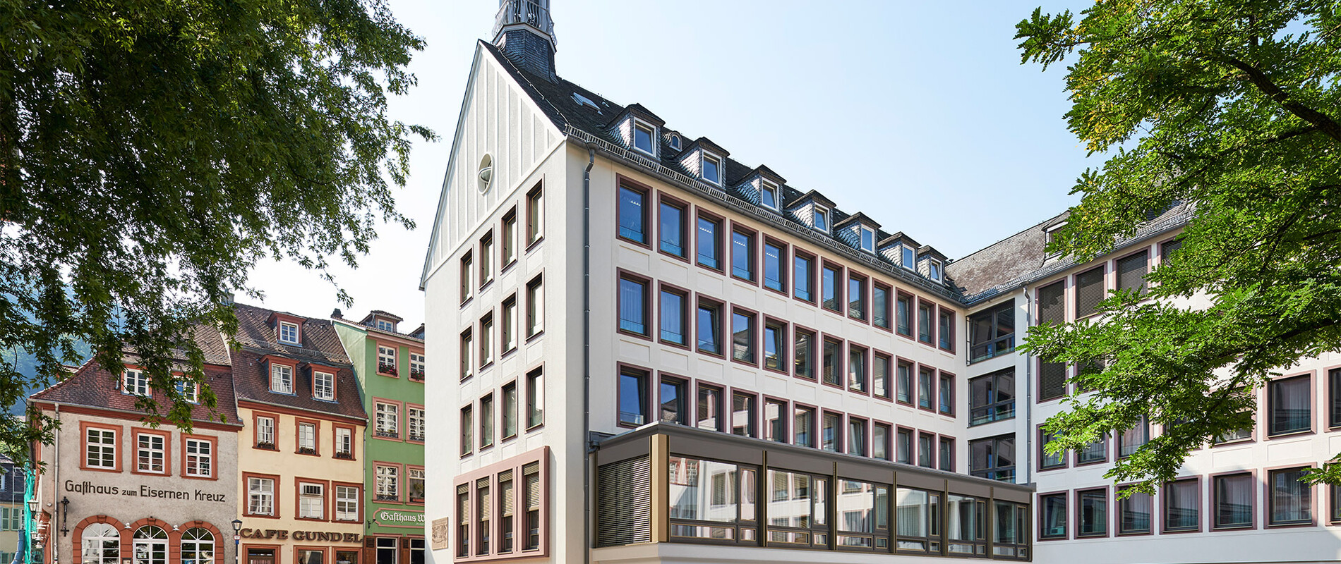 Refurbishment of a facade - energy-oriented and with consideration of historic preservation aspects - Townhall Heidelberg  - street view