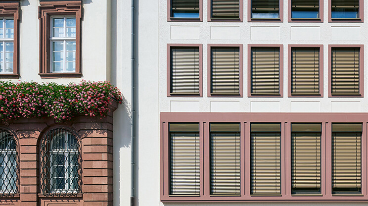 Refurbishment of a facade - energy-oriented and with consideration of historic preservation aspects - Townhall Heidelberg  - facade detail