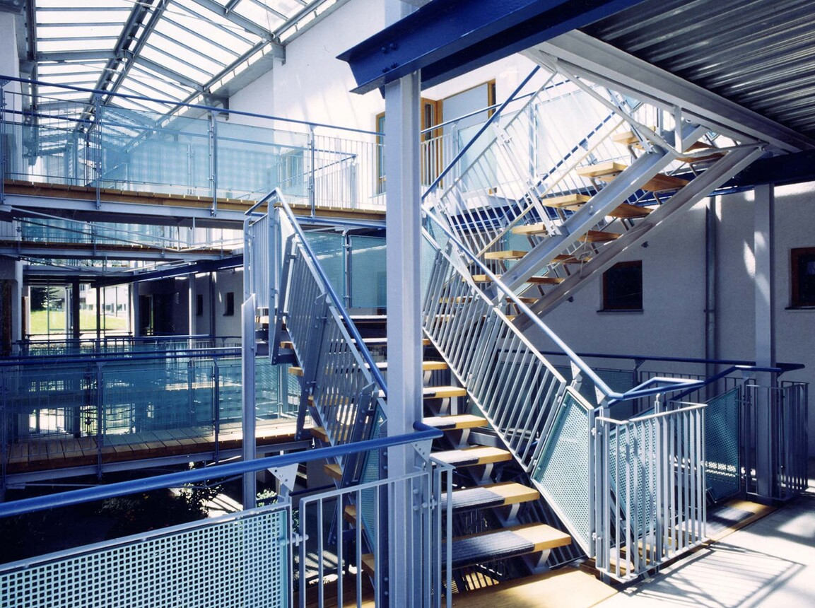 nursing home for the elderly - new construction and expansion - Nursing Home Laichingen - stairwell