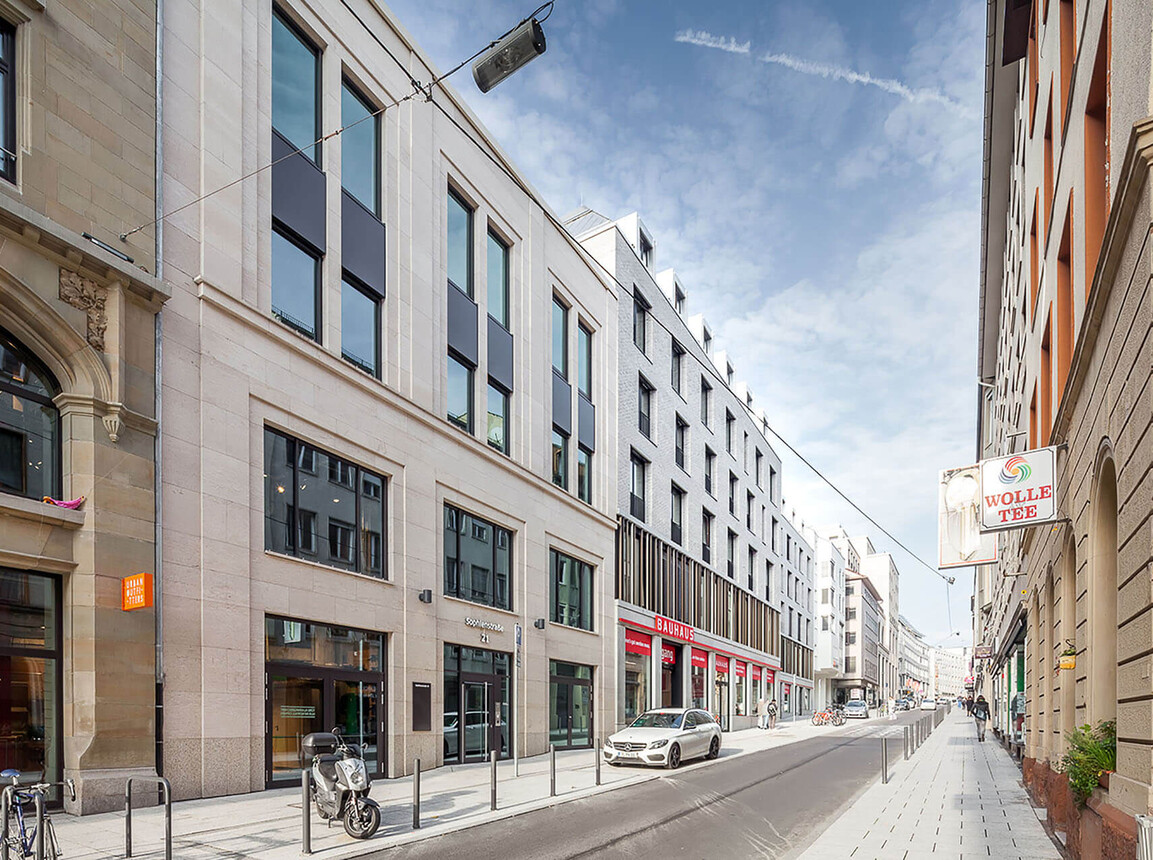mixed-used living and business building - new construction - Sophie 23 Stuttgart - street view 2