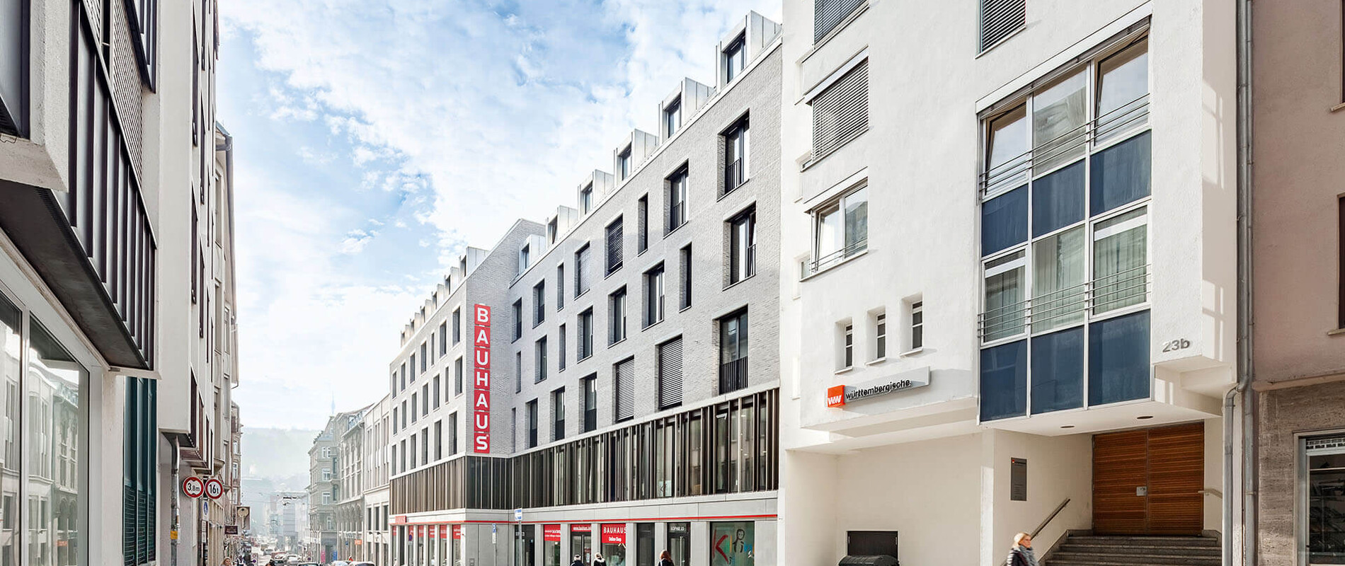 mixed-used living and business building - new construction - Sophie 23 Stuttgart - street view