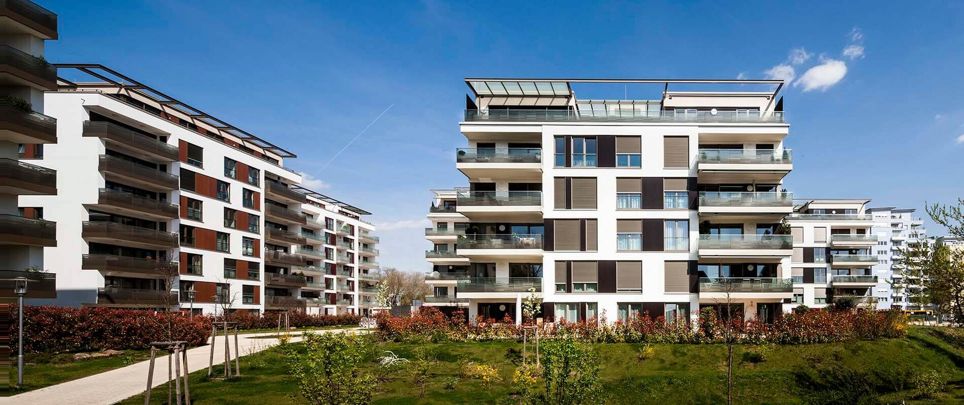 residential complex - Residential Park Niederfeld - overview - central courtyard