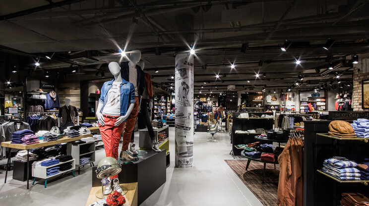 young fashion store - concept development - restructuring of the franchise concept - Angéloz stores Fribourg - shop overview