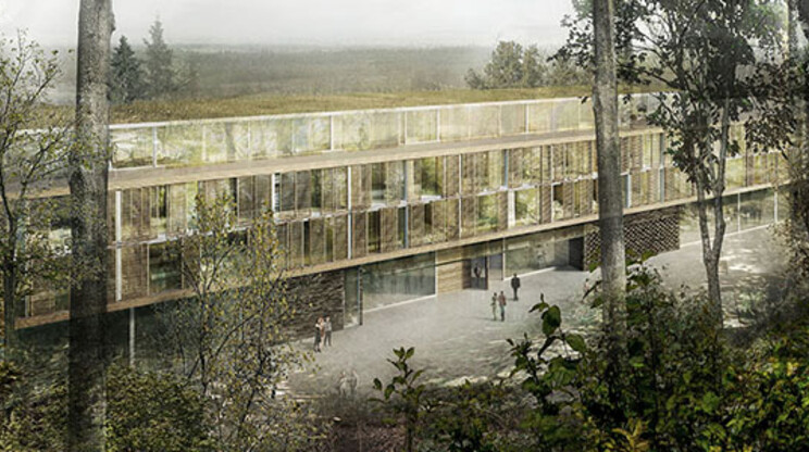 hotel in nature - new construction concept - Hotel Burggraf Tecklenburg - overview outside - entrance area
