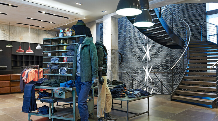 young men's fashion store - Kaiser S1 Freiburg - shop overview - stair