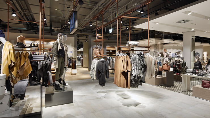 branch concept - Kastner & Öhler Ried/I. - overview clothing - accessories