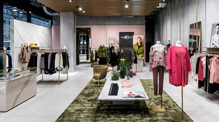 Flagship store - design and complete outfitting - Luisa Cerano Düsseldorf - overview